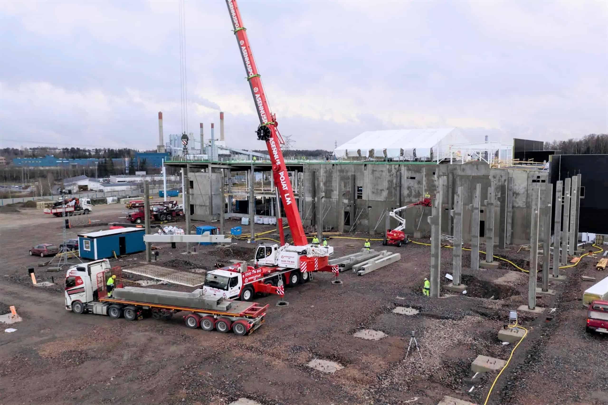 RakennusMäkinen Vehon hyötyaneuvokeskus